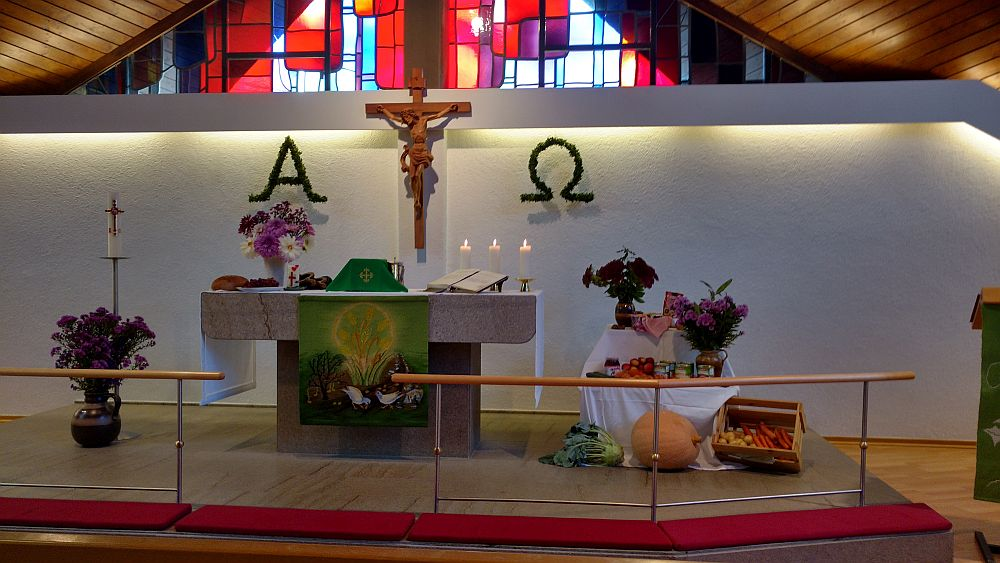 Harvest festival at the Lutheran Church in Siegen, Germany